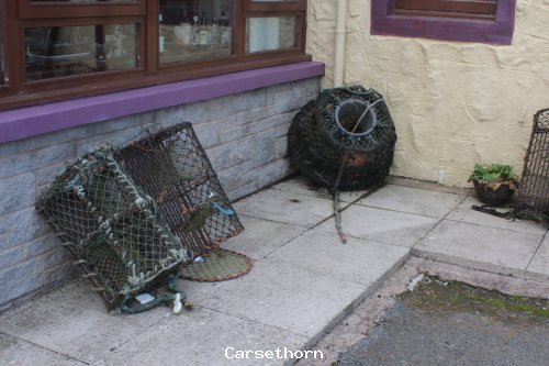 Lobster pots at The Steam boat