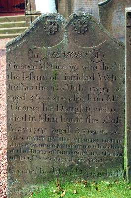 Gravestone in Applegarth Church Yard