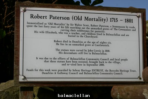 Old Mortality Information board