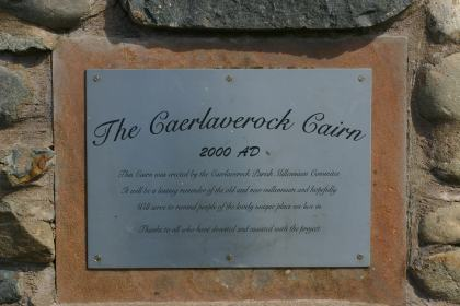 Plaqueon Cairncairn at Glencalpe