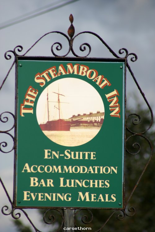 The Steam boat inn sign  2004