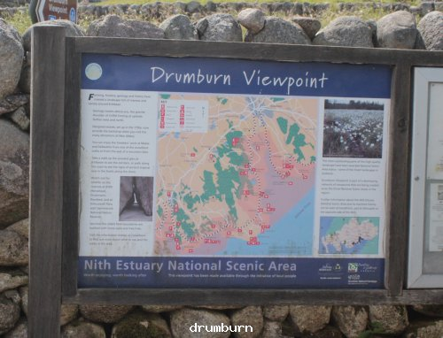 Information board at drumburn