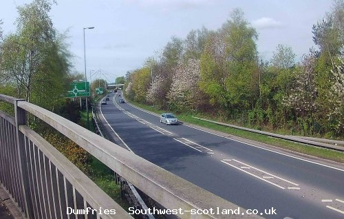 A75 towards Cockoo Bridge