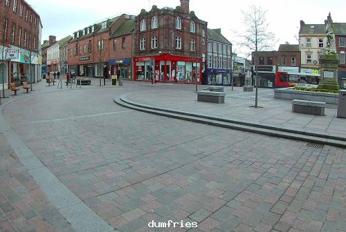 Burns statue Square Dumfries