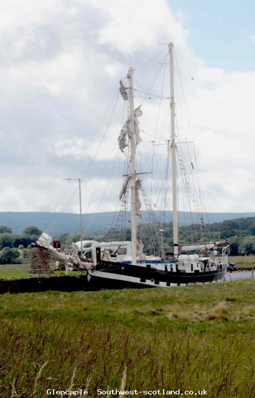 La Malouine at mooring