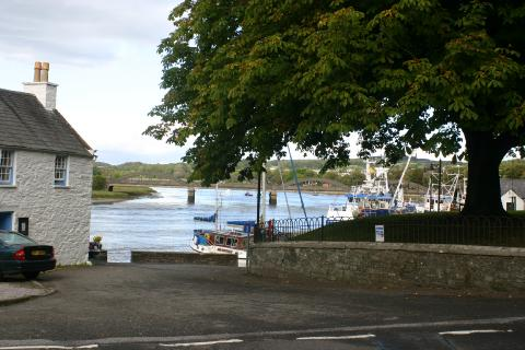 kirkcudbright Harbour from Maclellans castle