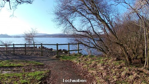 Lochmaben Castle loch from parking area