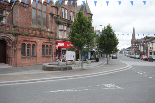 Lockerbie town centre