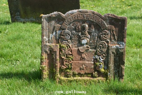 Gravestone @ Balameclellan & kells church new Galloway
