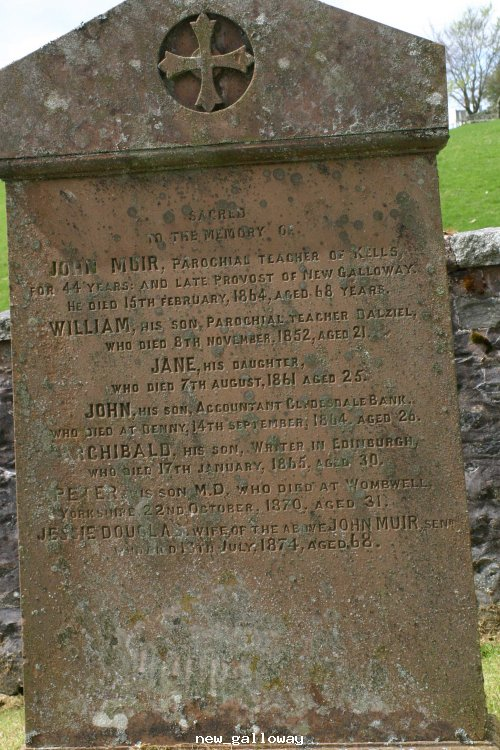 Gravestone @ Balameclellan & kells church new Gallowa