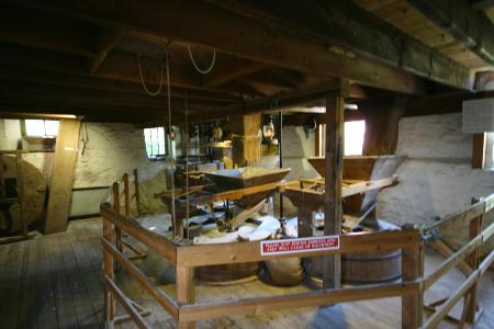 Ground Floor machinery New Abbey corn mill