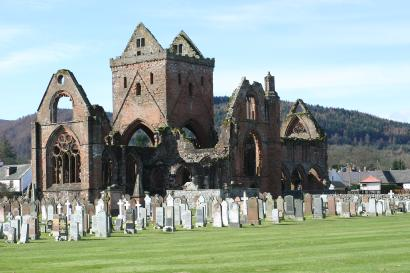 View of Sweetheart Abbey