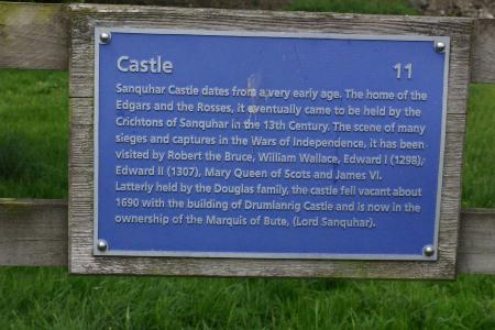 Plaque by Sanquhar Castle