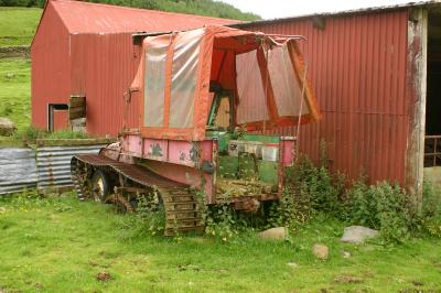 Old tracked vehicle